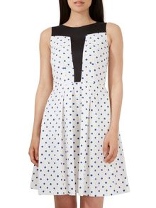 Closet Spot Contrast Panel Dress