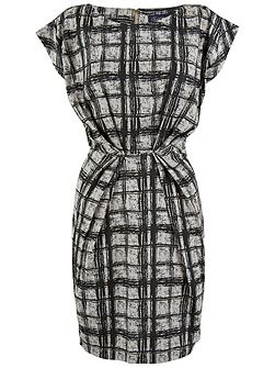 Square Turn Up Sleeve Dress