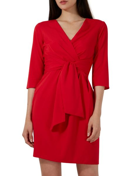 Closet 3/4 Sleeve Wrap Dress