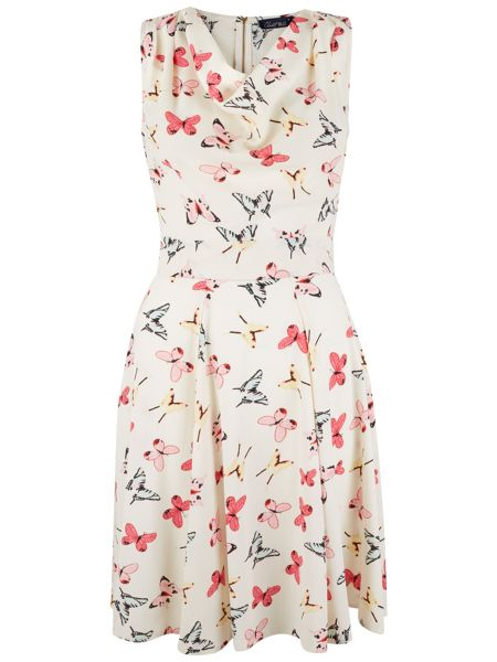 Closet Butterfly Cowl Neck Dress