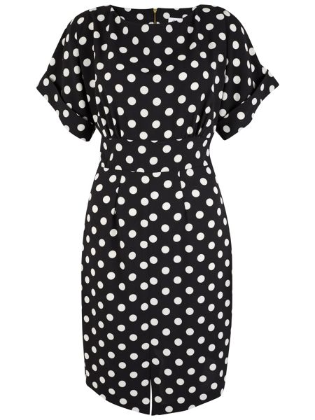 Closet Polka Dot Split Front Dress
