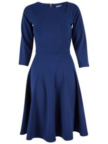 Long Sleeve Panel A-Line Dress
