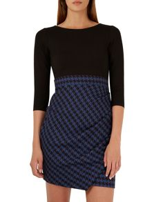 Square Jacquard L/Sl Dress
