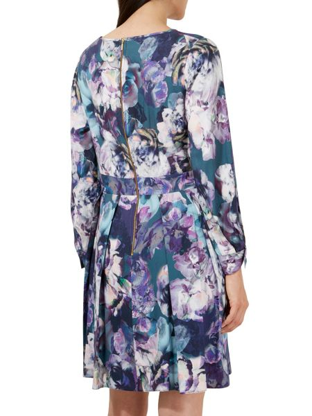 Closet Floral V-Neck Long Sl Dress