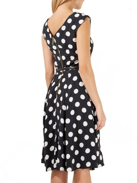 Closet Midi Big Polka Belted Dress