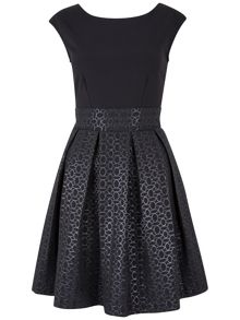 Jacquard Pleat Dress