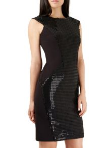 Closet Black Sequin Detail Bodycon Dress