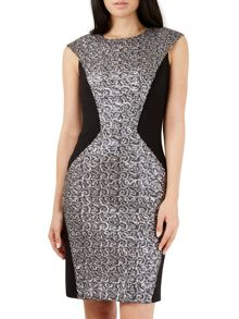 Closet Blue Sequin Front Bodycon Dress