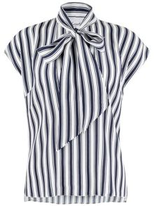 Closet Stripe Pussy Bow blouse