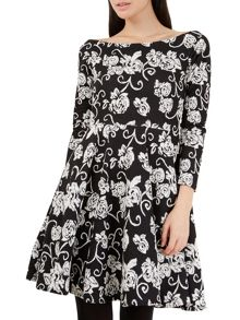 Closet Bardot Monochrome Dress