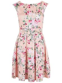 Pink Blossom Tie Back Dress