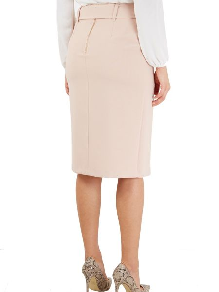 Closet Self Tie Belt Vent Pencil Skirt