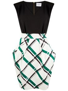 Closet V Neck Tulip Skirt Dress