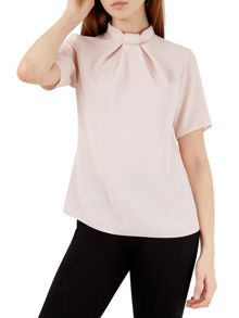 Closet Bow Tie Neck Collar Blouse