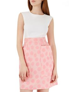 2in1 Pink Textured Skirt Dress