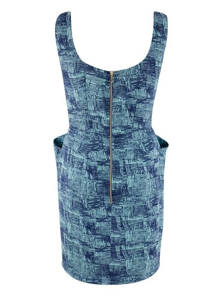 Closet Print Scoop Back Dress