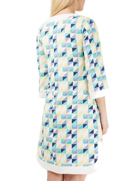 Closet Geo-Print Curve Dress