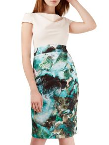 Closet Floral Pencil Dress