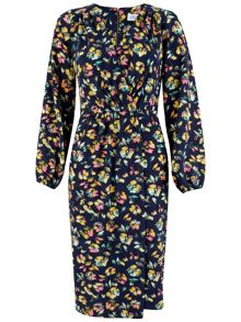 Closet Floral Wrap Dress
