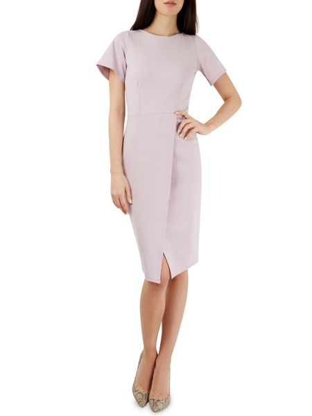 Closet Lilac Pleat Front Pencil Dress