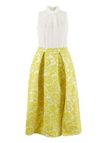 Closet 2 in 1 Yellow Skirt Dress