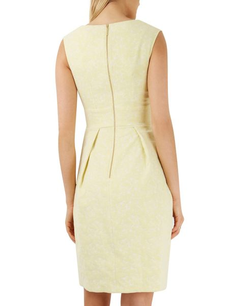 Closet Yellow V Neck Jacquard Dress