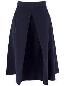 Closet Navy Panel Front Vent Skirt