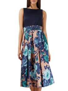 Closet 2 in 1 Floral Skirt Midi Dress