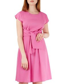 Closet Pink Short Sleeve Tie Front Dress
