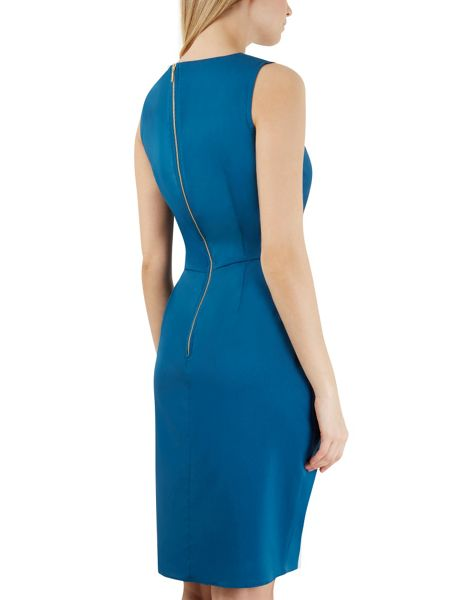 Closet Blue Tie Front Sleeveless Dress
