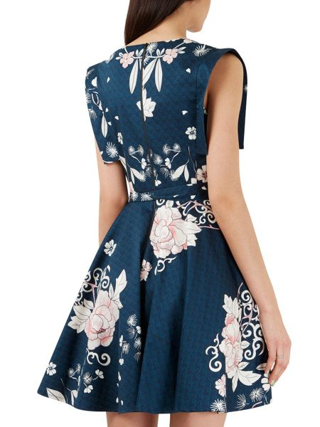 Closet Multi Wrap Bodice Contrast Tie Dress