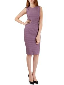 Closet Purple Seam Jacquard Dress