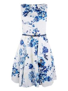 Closet Floral Gathered Skirt Dress