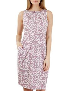 Closet Multi Pleat Neck Tulip Dress