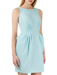Closet Aqua Gathered Waist Dress