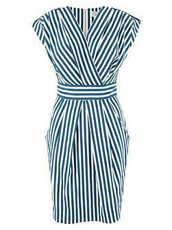 Multi Stripe Print X Over Dress
