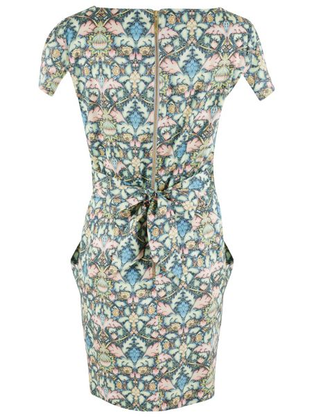 Closet Multi Floral Tie Back Dress