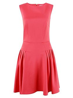 Coral Side Panel A Line Dress