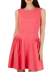 Closet Coral Side Panel A Line Dress