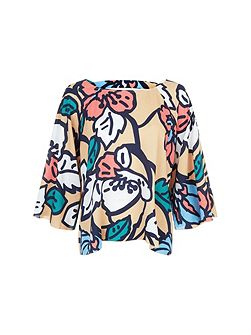 Floral Woven - Whimsical Top
