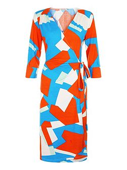 Harlequin Jersey - Wrap Dress