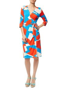 Traffic People Harlequin Jersey - Wrap Dress