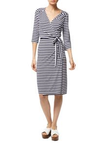 Traffic People Stripe It Baby - Wrap Dress