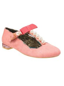 Calla lily leather round toe flat shoes