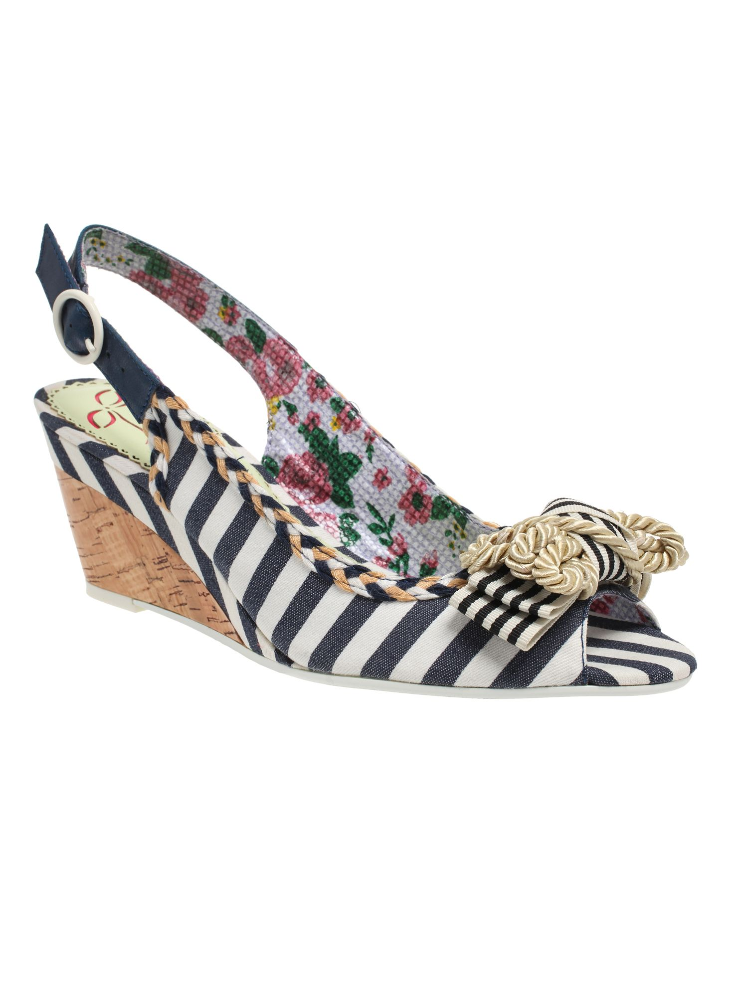 Mover and shaker wedge slingback sandals