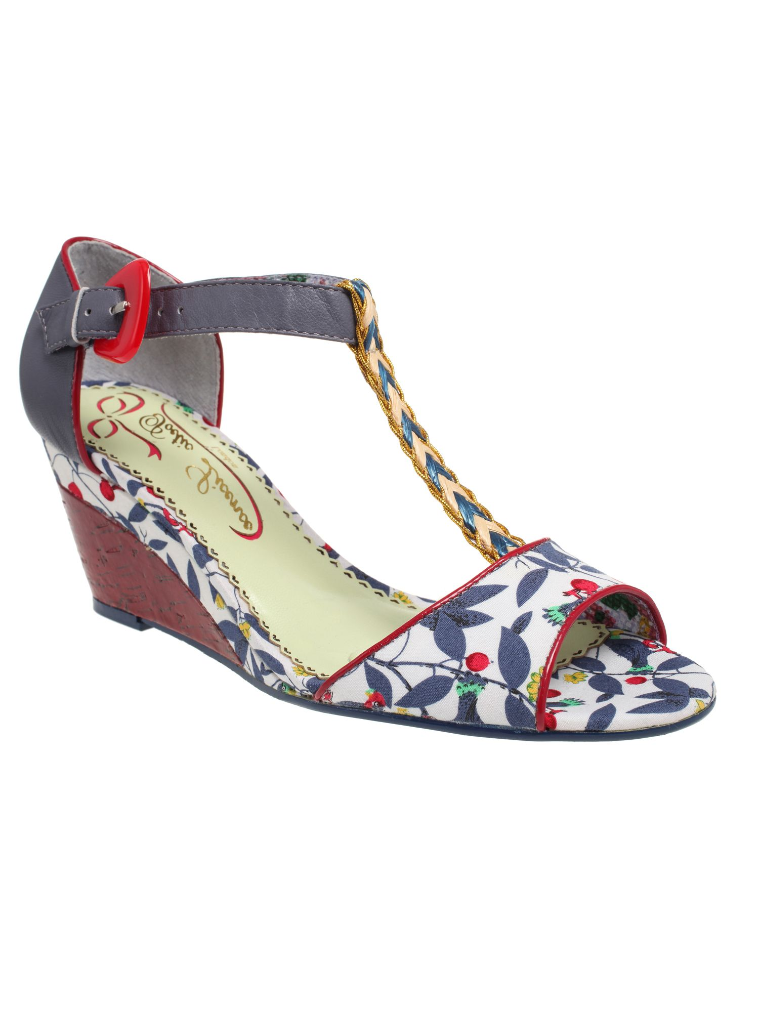 Poetic license miss quoted wedge heel sandals