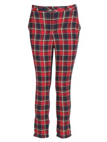 Checkered fitted trousers