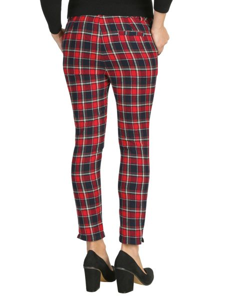 Cutie Checkered fitted trousers