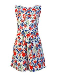 Printed Sleeveless Playsuit