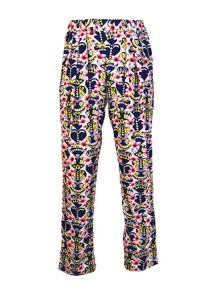 Art Deco Print Trousers
